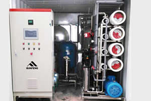 Containerized Seawater Desalination Plant, Reverse Osmosis (RO)